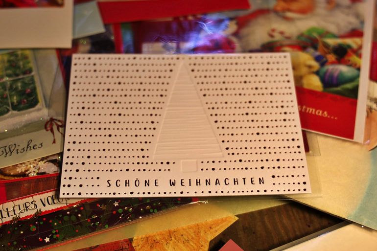 活版印刷の温かみを感じるクリスマスカード