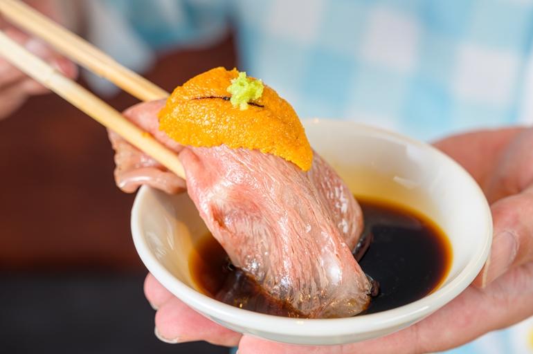肉寿司醤油