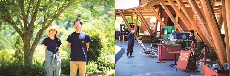 スタッフの田村浩樹さん(右)と大塚桃奈さん(左)